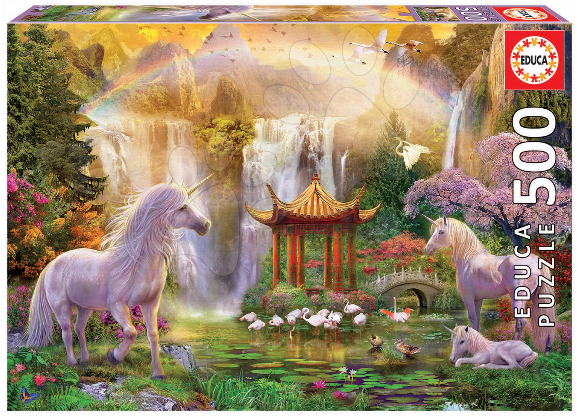 Puzzle Genuine Unicorn Valley of the Waterfalls Educa 500 dílů od 11 let