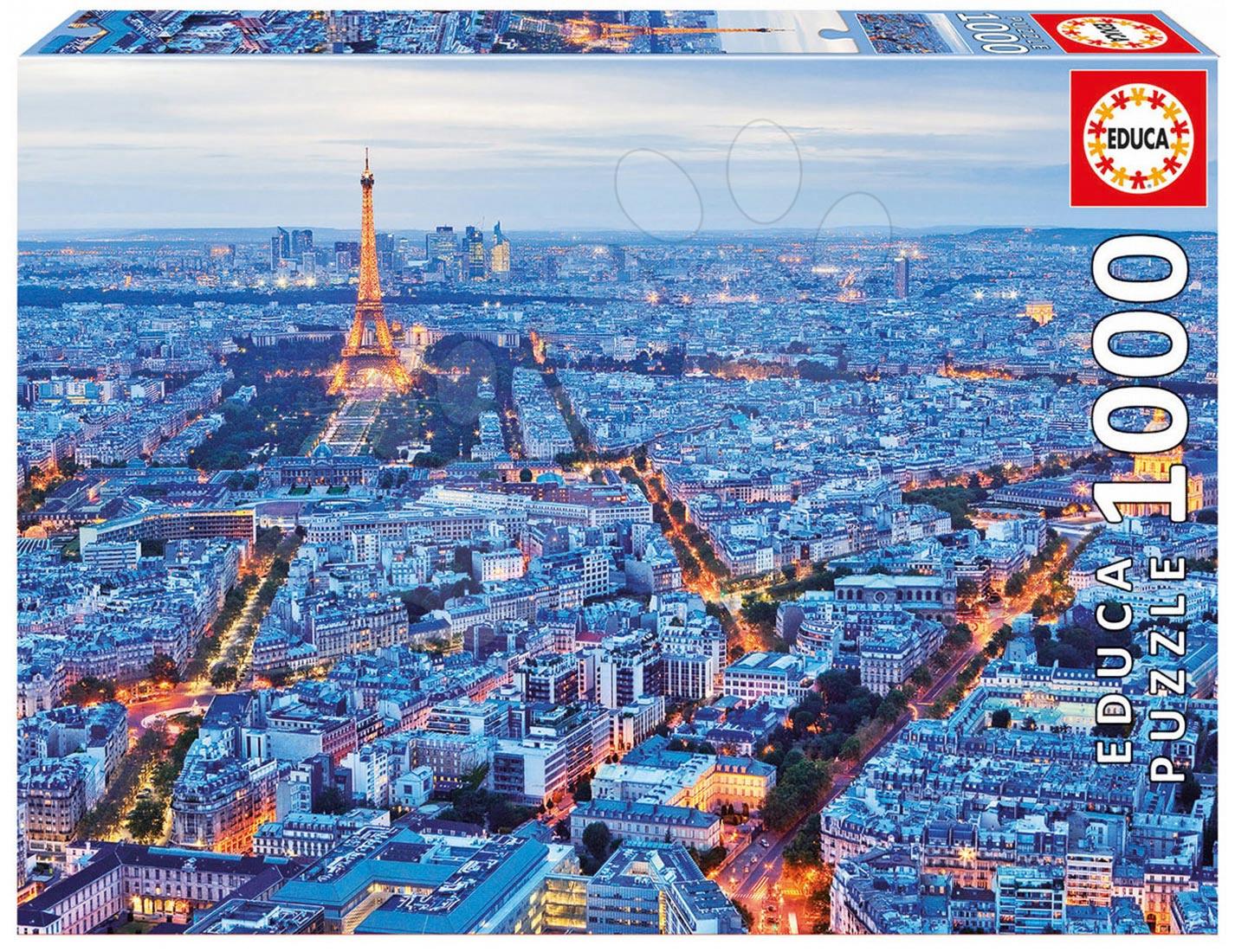 Puzzle 1000 dielne - Puzzle Genuine Paris Lights Educa 1000 dielov od 12 rokov