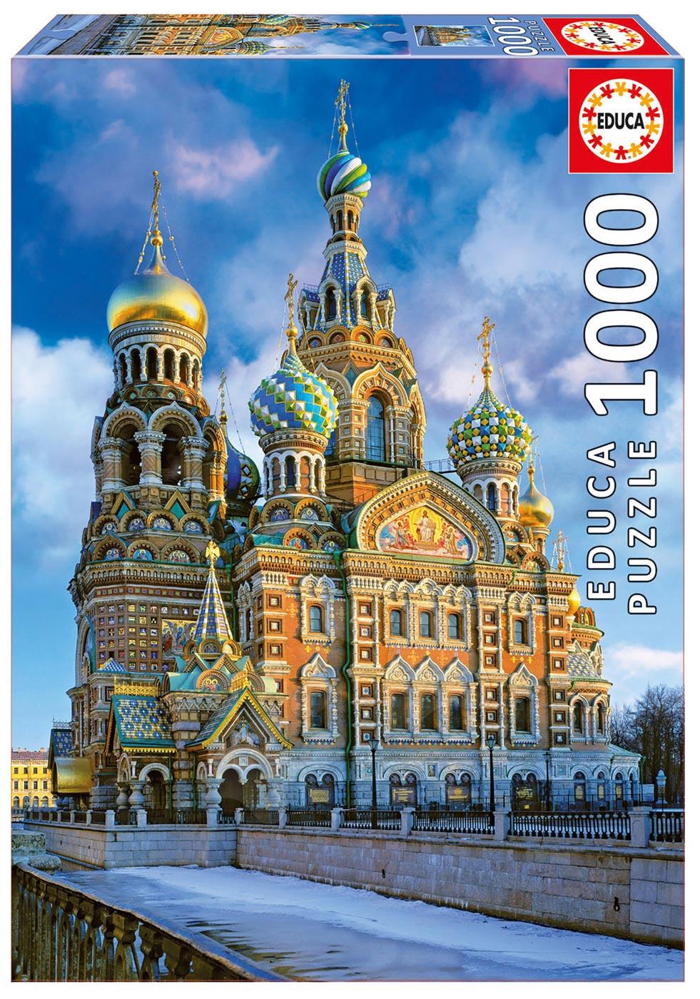 Puzzle 1000 dielne - Puzzle Genuine Church of the Resurrection of Christ, St Petersburg Educa 1000 dielov od 12 rokov
