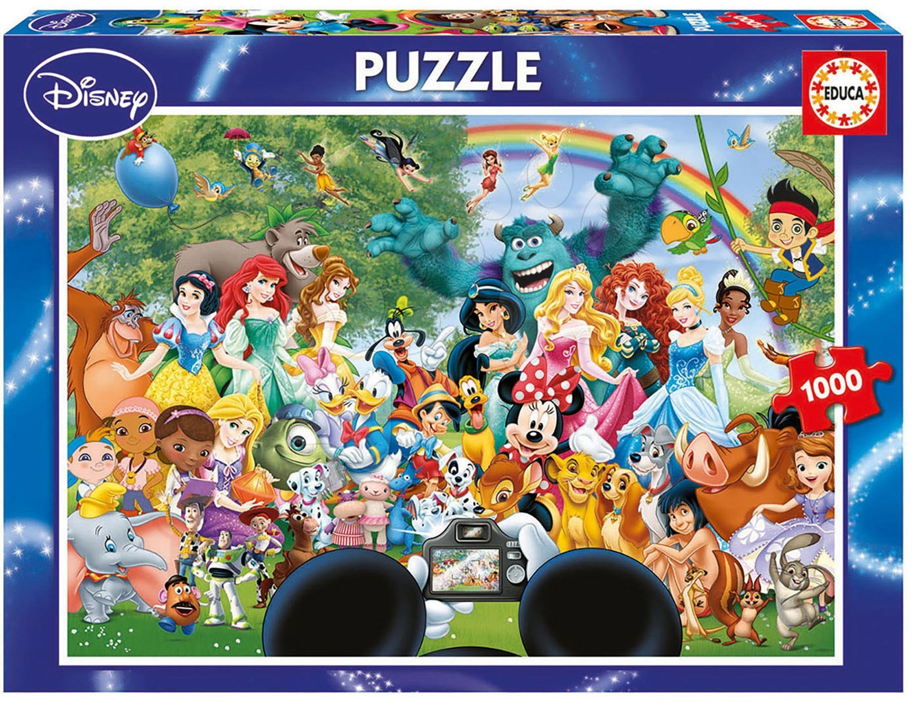 Puzzle 1000 dielne - Puzzle Disney Family The Marvelous World of Disney II. Educa 1000 dielov od 12 rokov