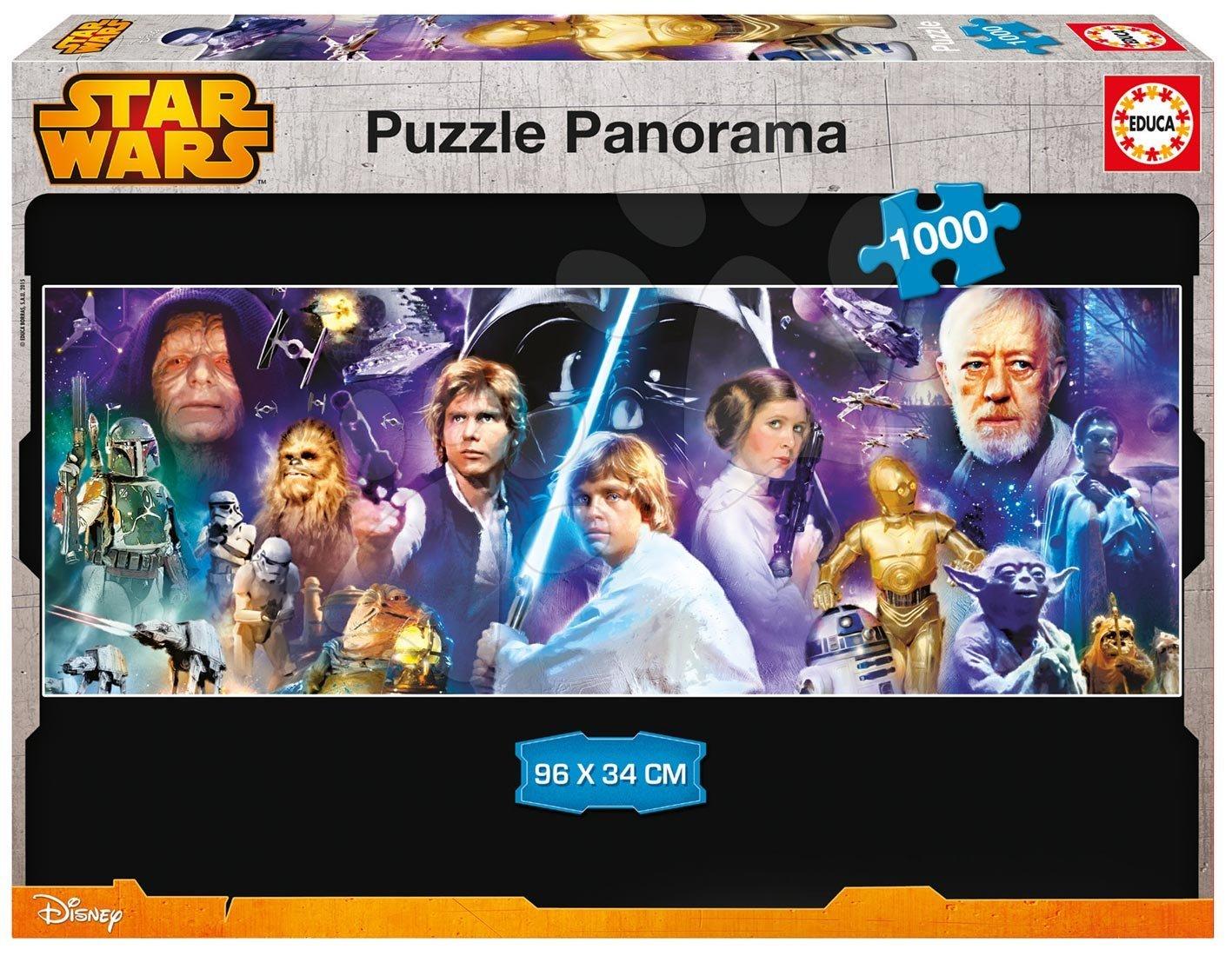 Panorama puzzle - Puzzle Panorama Star Wars Educa 1000 dielov od 12 rokov