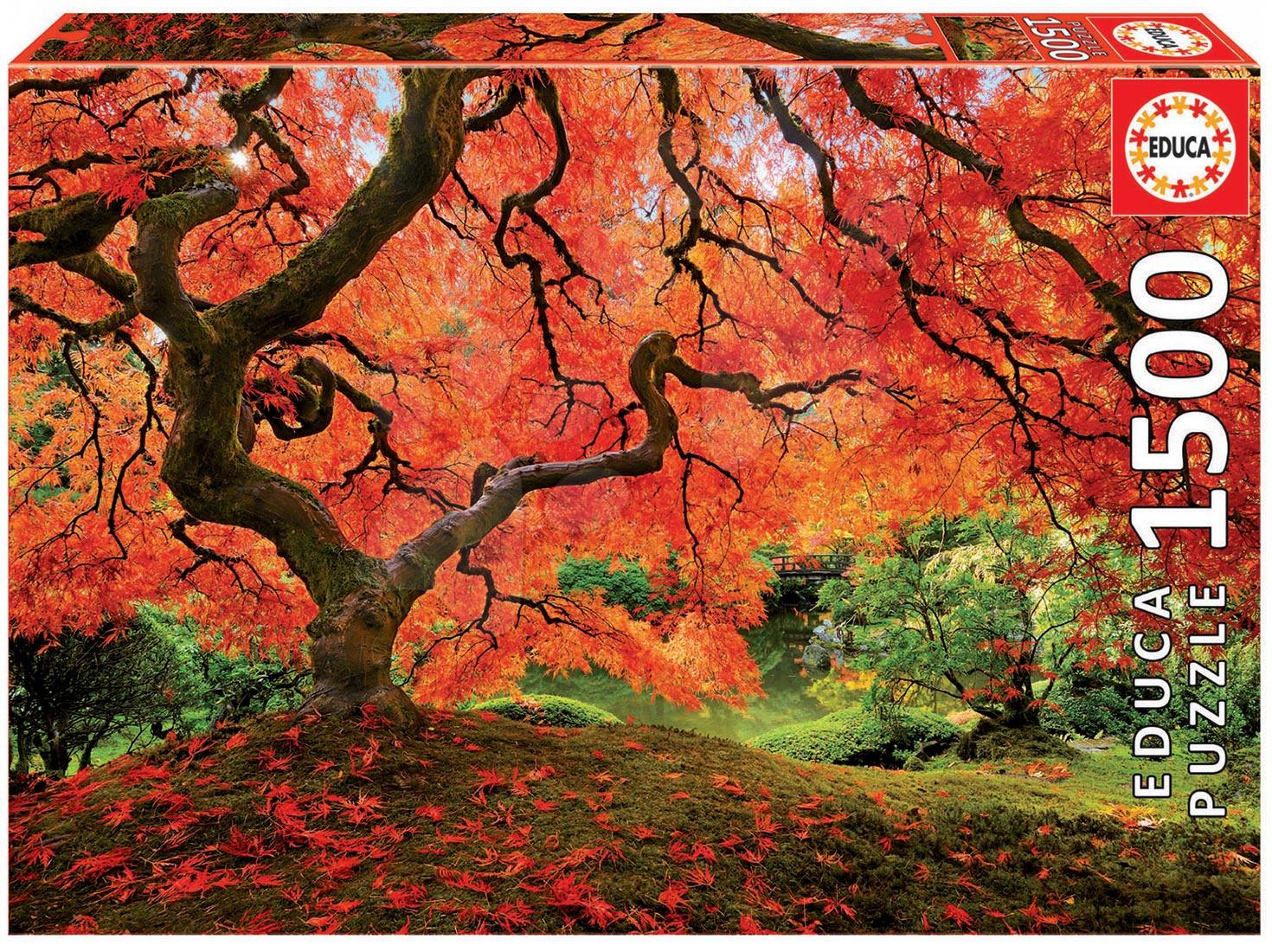 Puzzle 1500 dielne - Puzzle Genuine Japonská záhrada Educa 1500 dielov