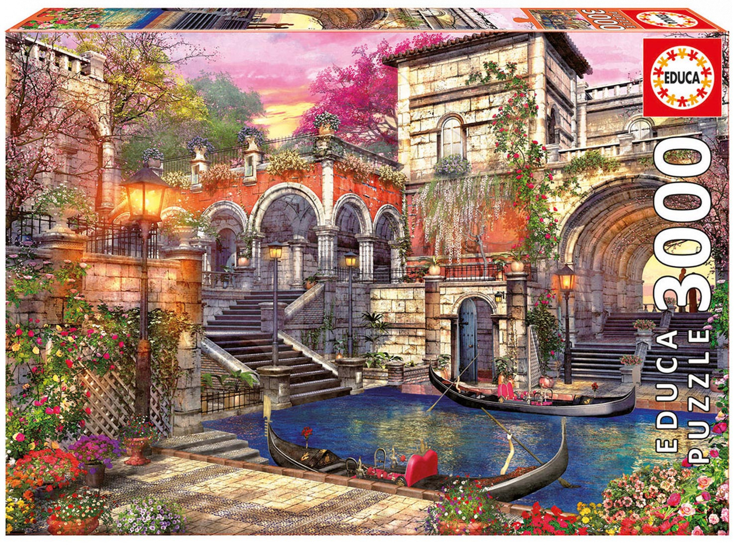 Puzzle 3000 dielne - Puzzle Genuine Venice Courtship Educa 3000 dielov od 15 rokov