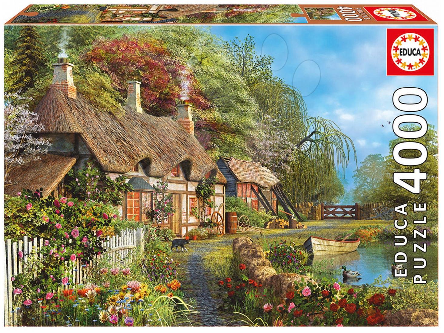 Puzzle 4000 - 8000 dielne - Puzzle Riverside Home In Bloom Educa 4000 dielov od 15 rokov