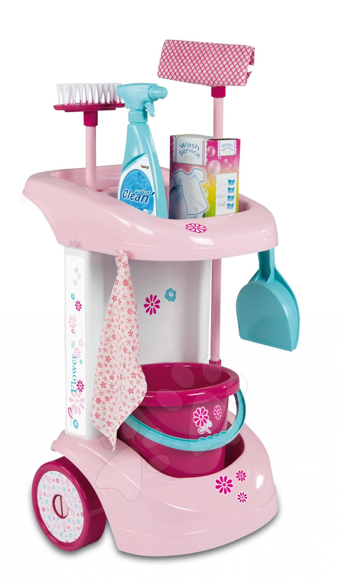 Nezařazené - Úklidový vozík Smoby růžový