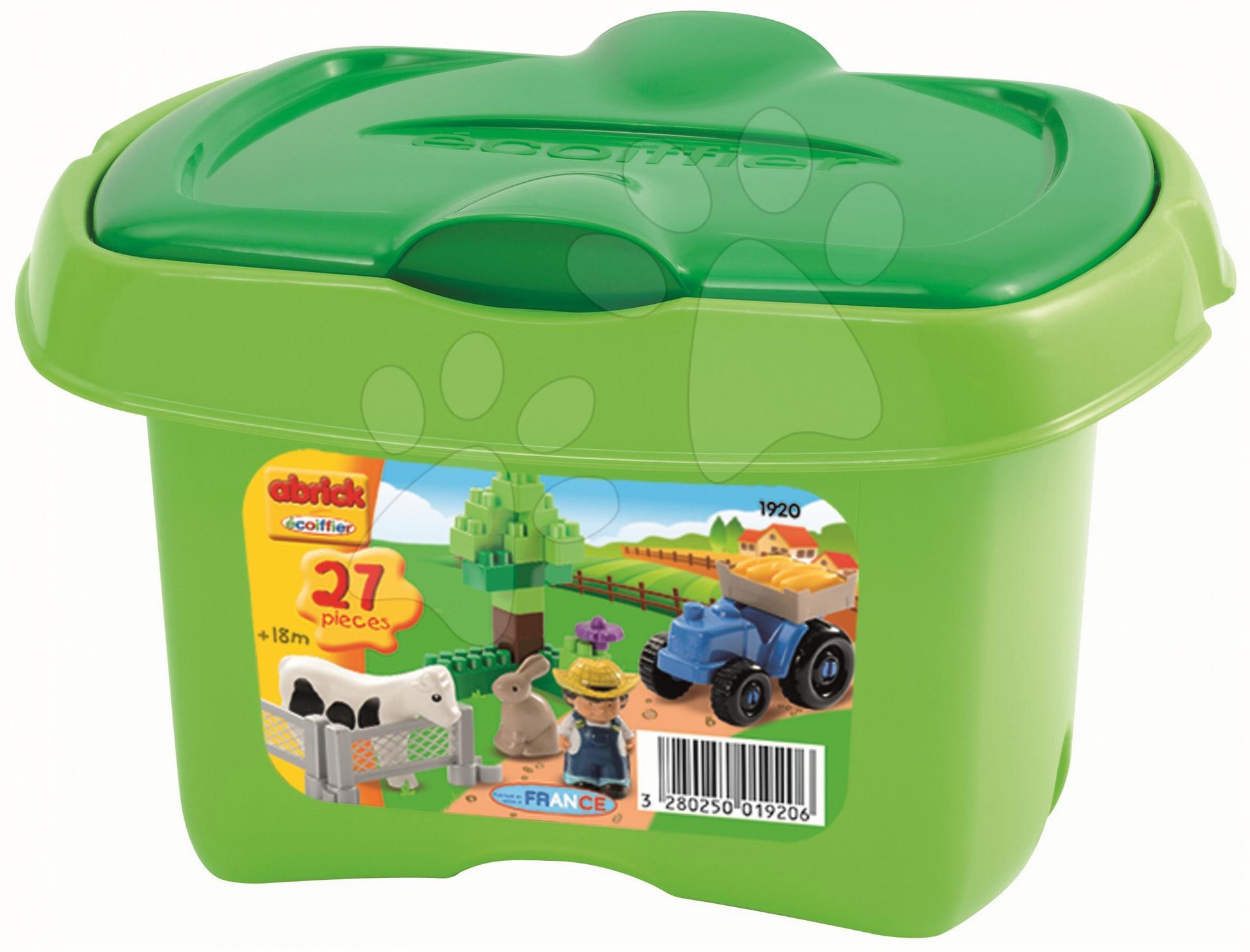 Stavebnica Abrick - farma s traktorom Écoiffier 27 dielov od 18 mes