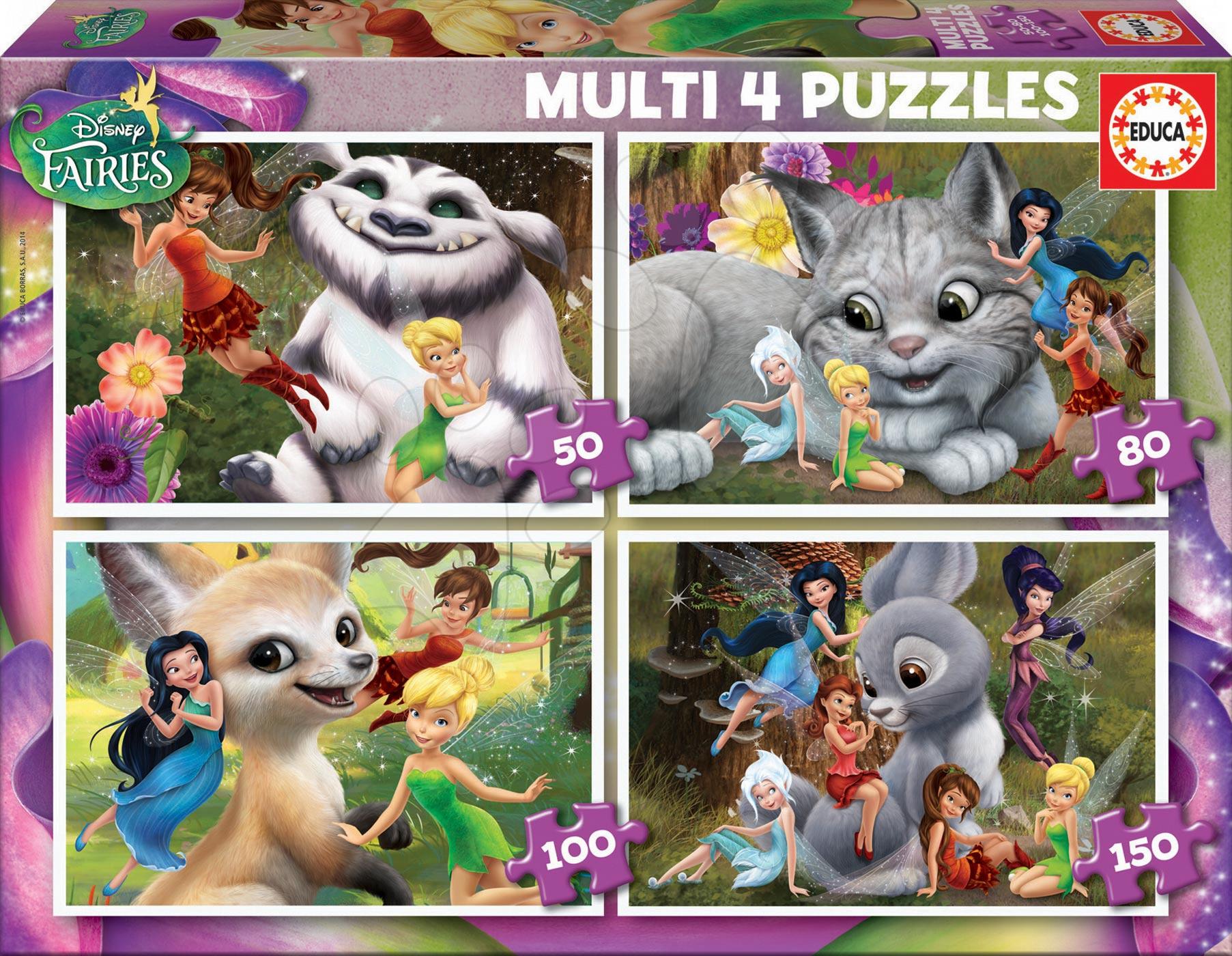 Puzzle Víly Educa 50-80-100-150 dílů od 5 let