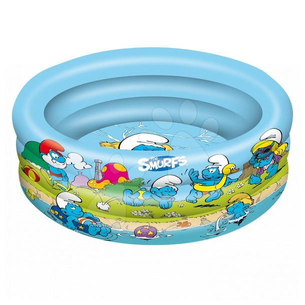 Nafukovací bazén Šmoulové Mondo tříkomorový, 100 cm