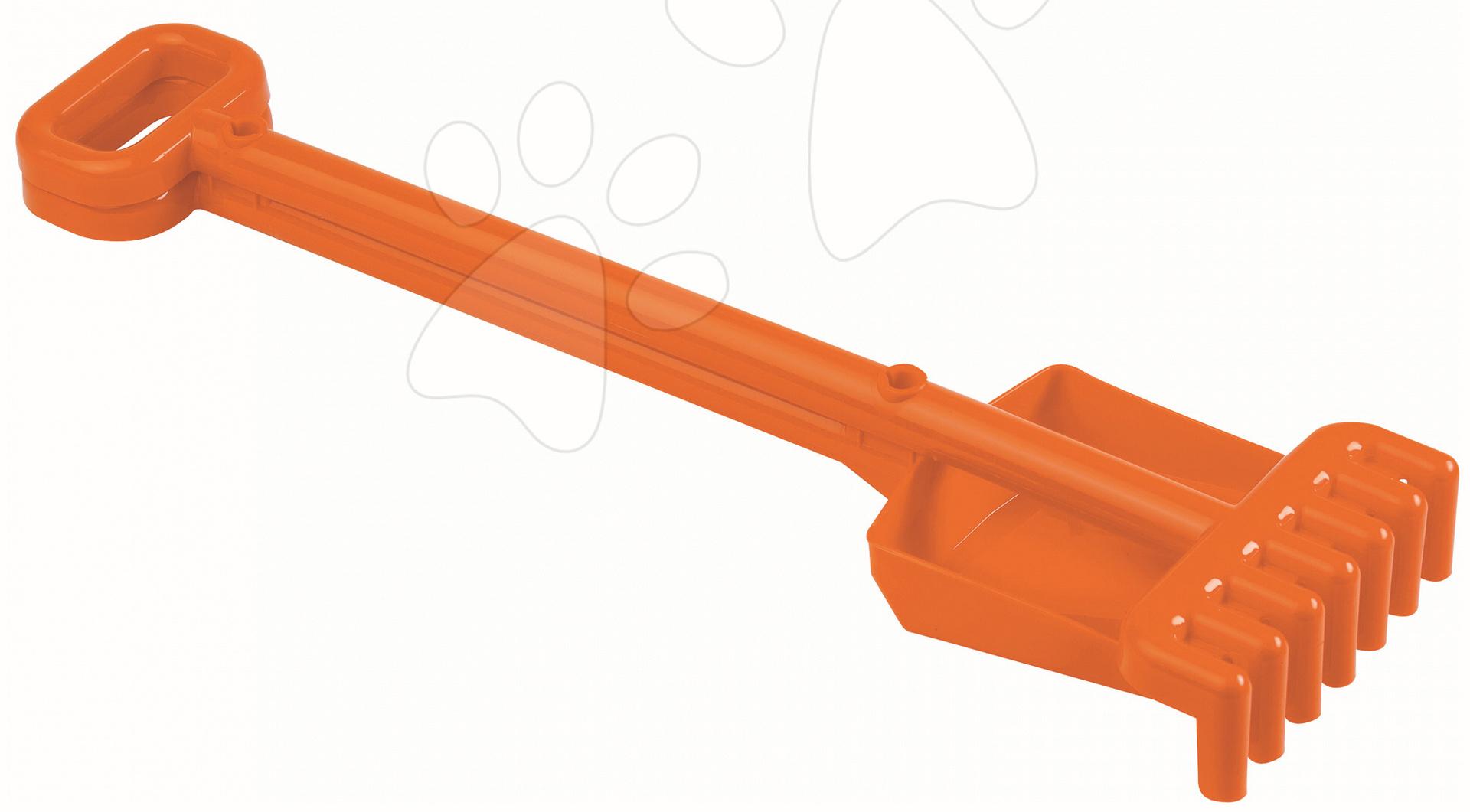 Lopatky do piesku - Sada lopatka a hrabličky Écoiffier (dĺžka 52 cm) oranžová od 18 mes