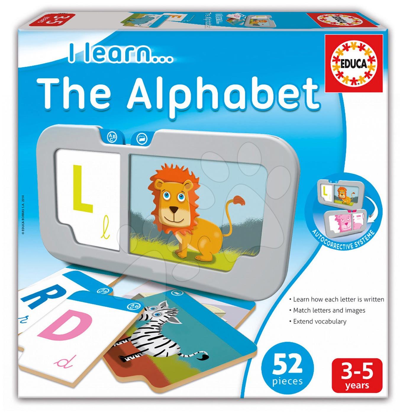 Naučná hra Učíme se abecedu Educa 52 dílků od 3 let