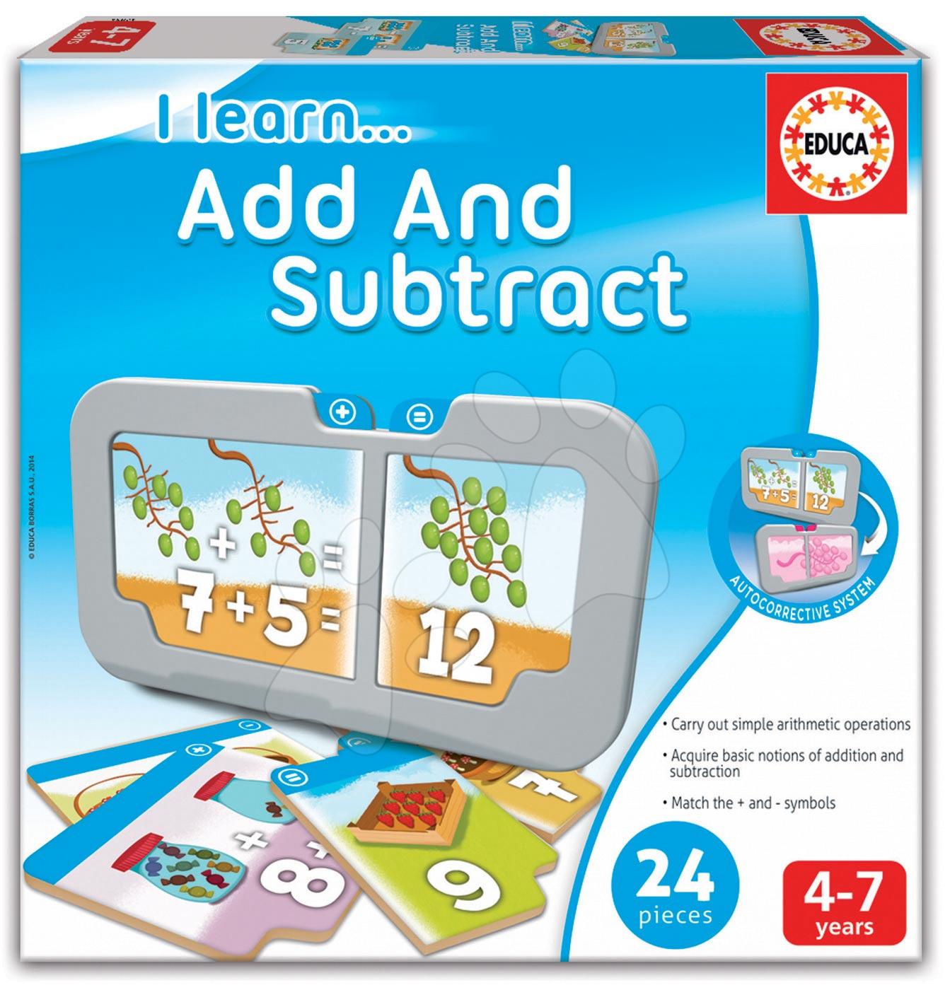 Naučná hra Učíme se sčítat a odčítat Educa 24 dílků od 4 let