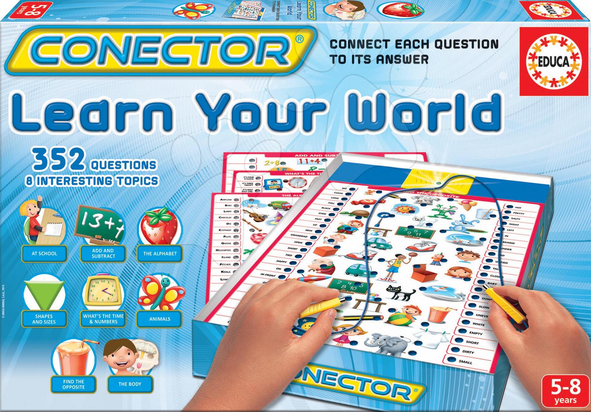 d24fb5b71 Spoločenská hra Conector Learn Your World Educa 352 otázok v angličtine od  5-8 rokov