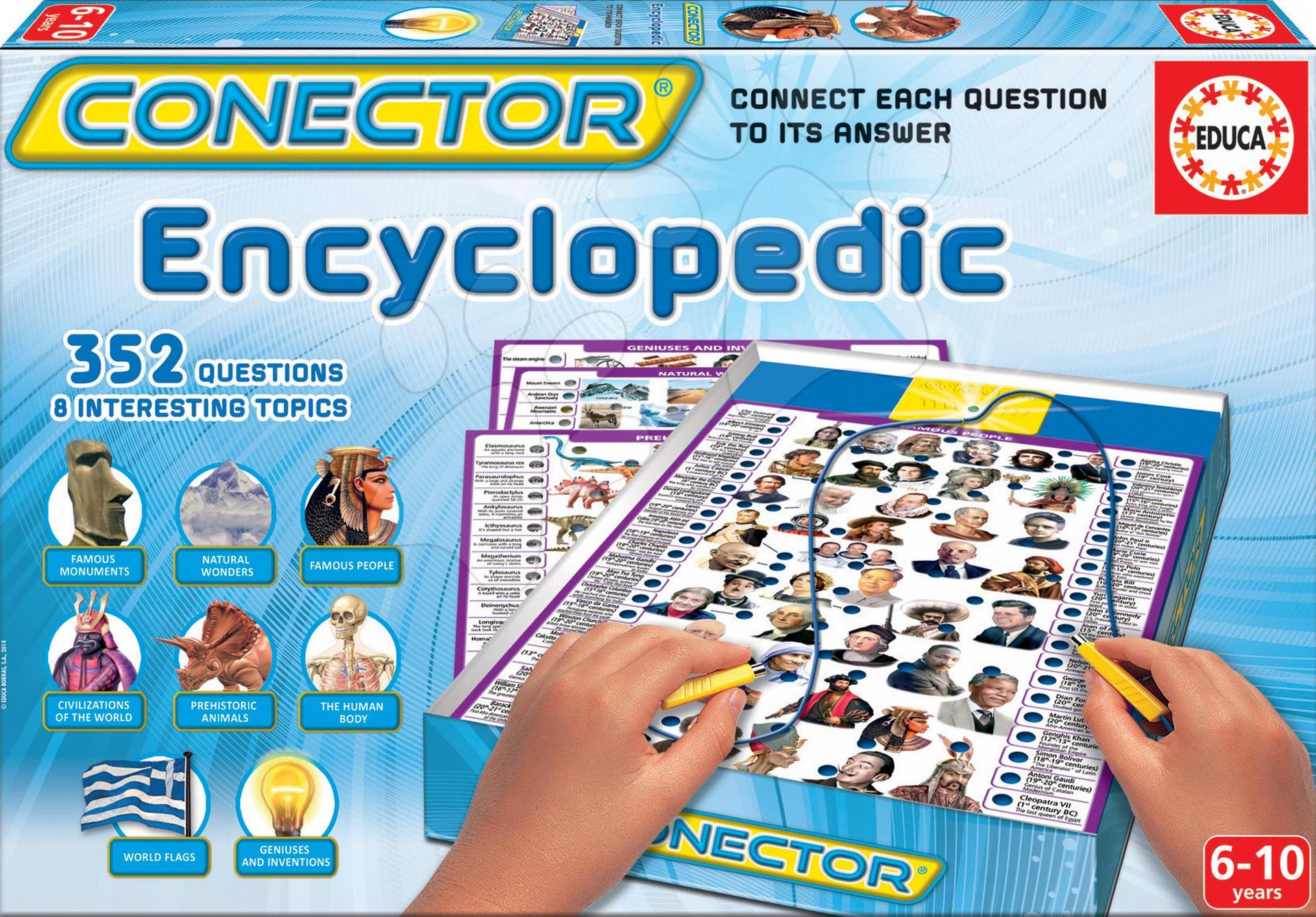 Cudzojazyčné spoločenské hry - Spoločenská hra Conector Encyclopedic Educa 352 otázok v angličtine od 6 rokov
