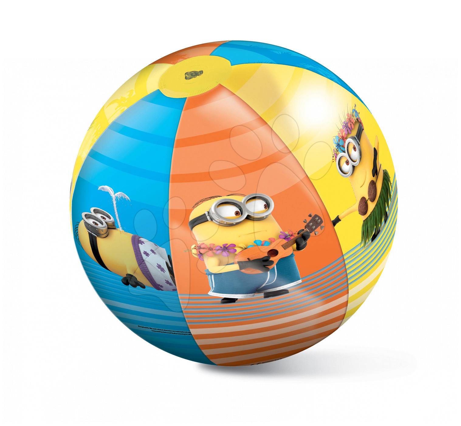 Nafukovacie lopty - Nafukovacia lopta na pláž Mimoni Mondo 50 cm od 10 mes