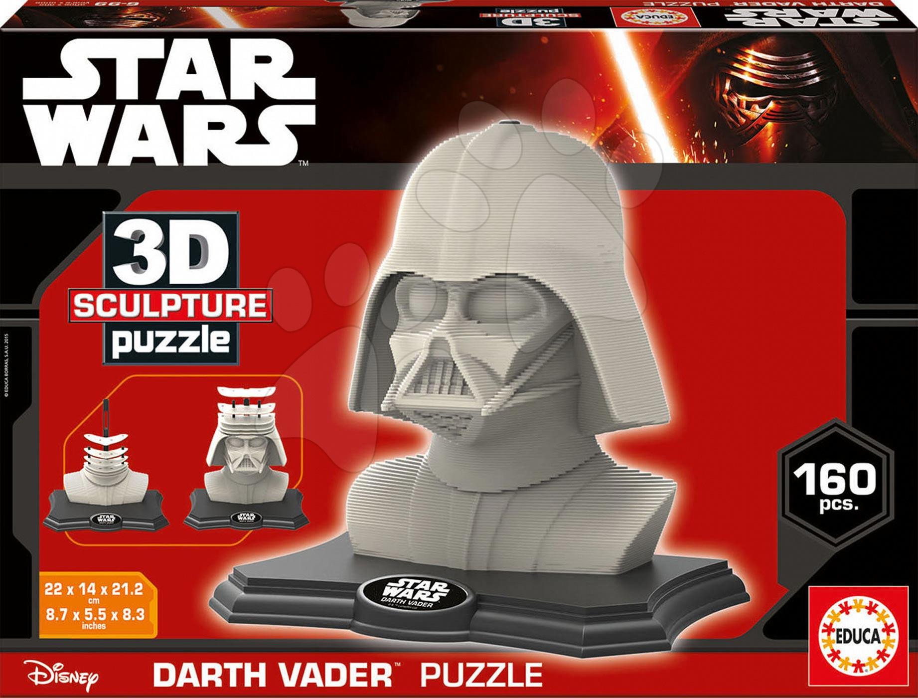 Puzzle 3D - Puzzle 3D Sculpture Hviezdne vojny Darth Vader Educa 160 dielov od 6 rokov