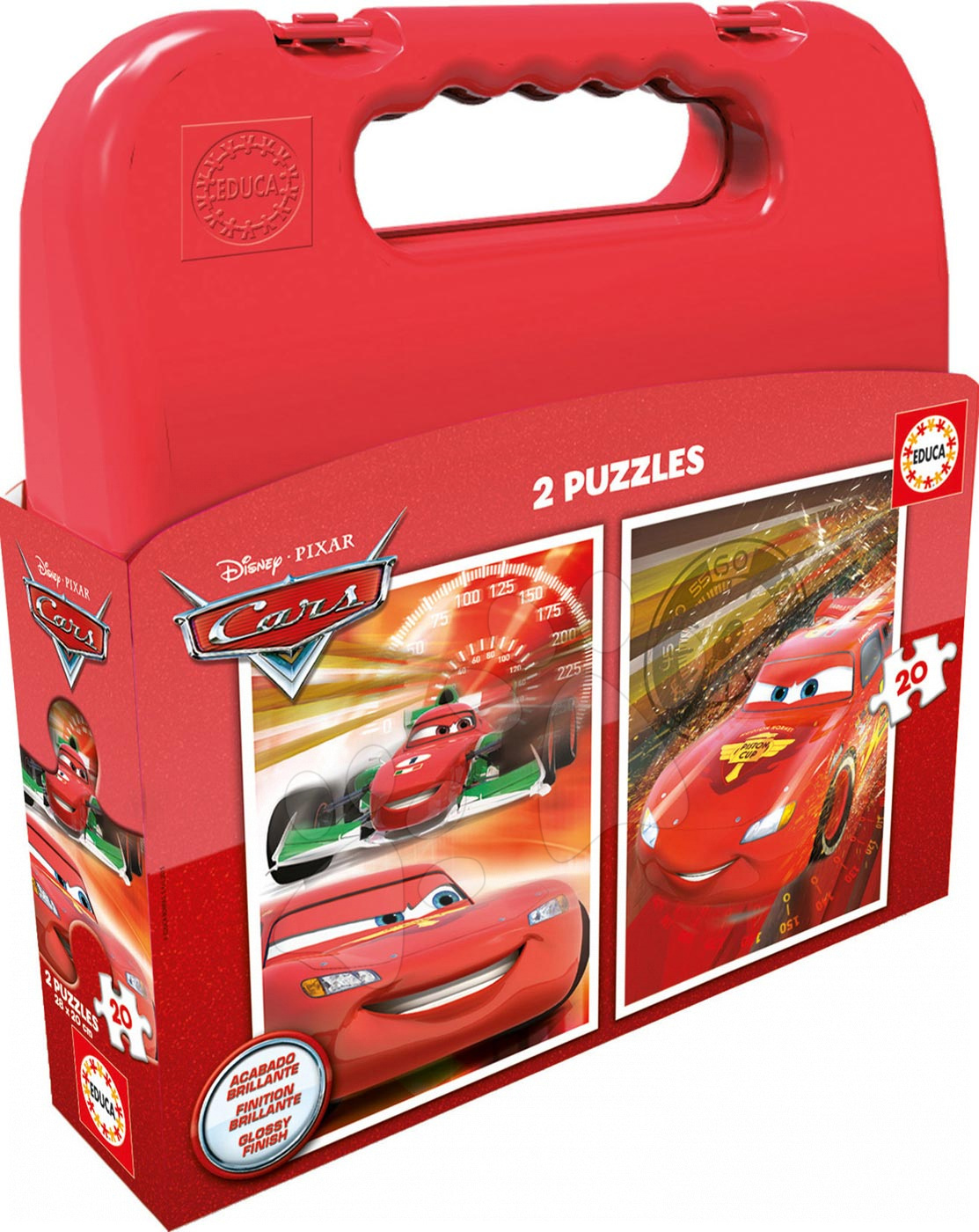 Puzzle pre deti Autá 2 Educa v kufríku 2x20 dielov 16509