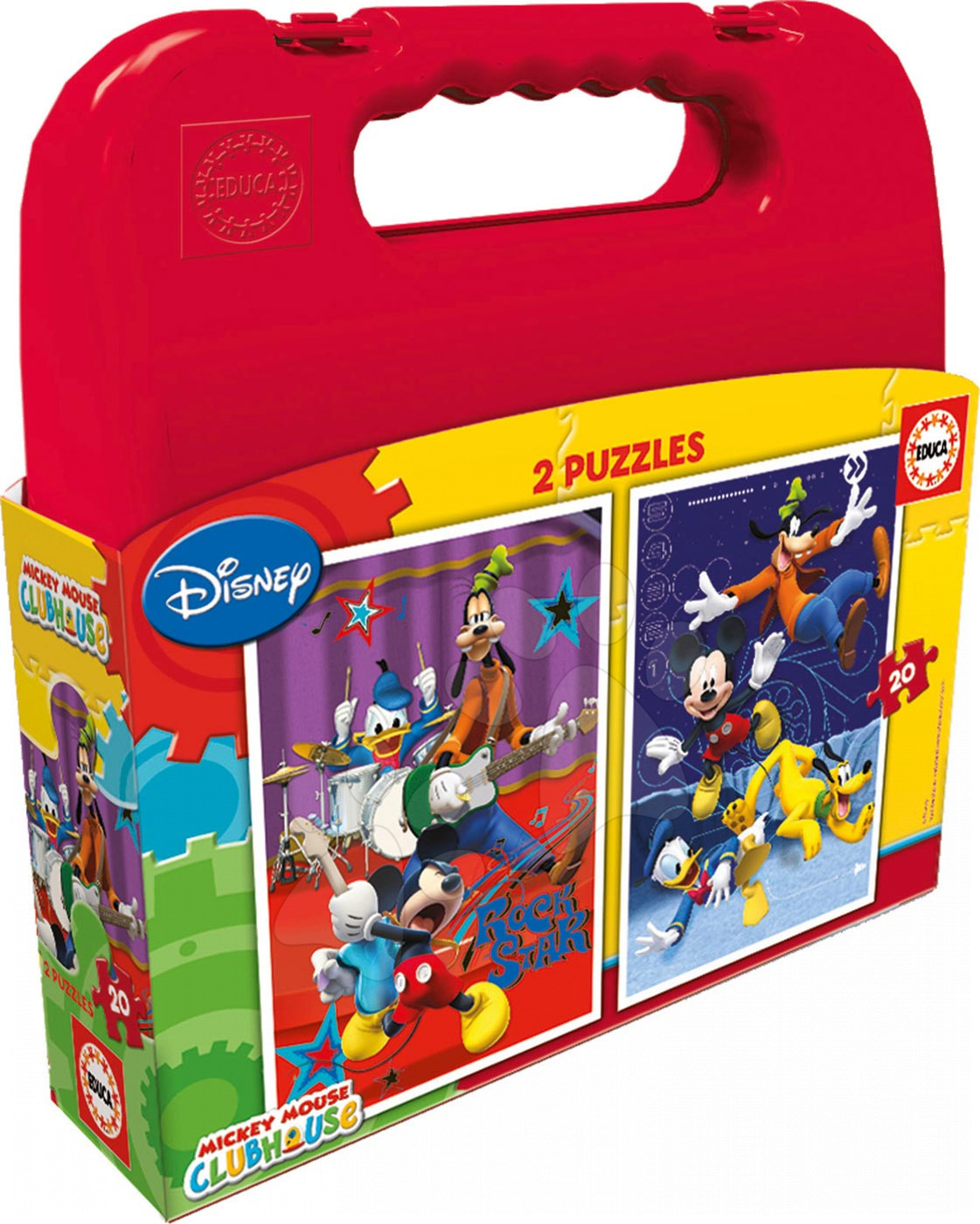 Puzzle Mickey Mouse Club House Educa kofferben 2x20 db