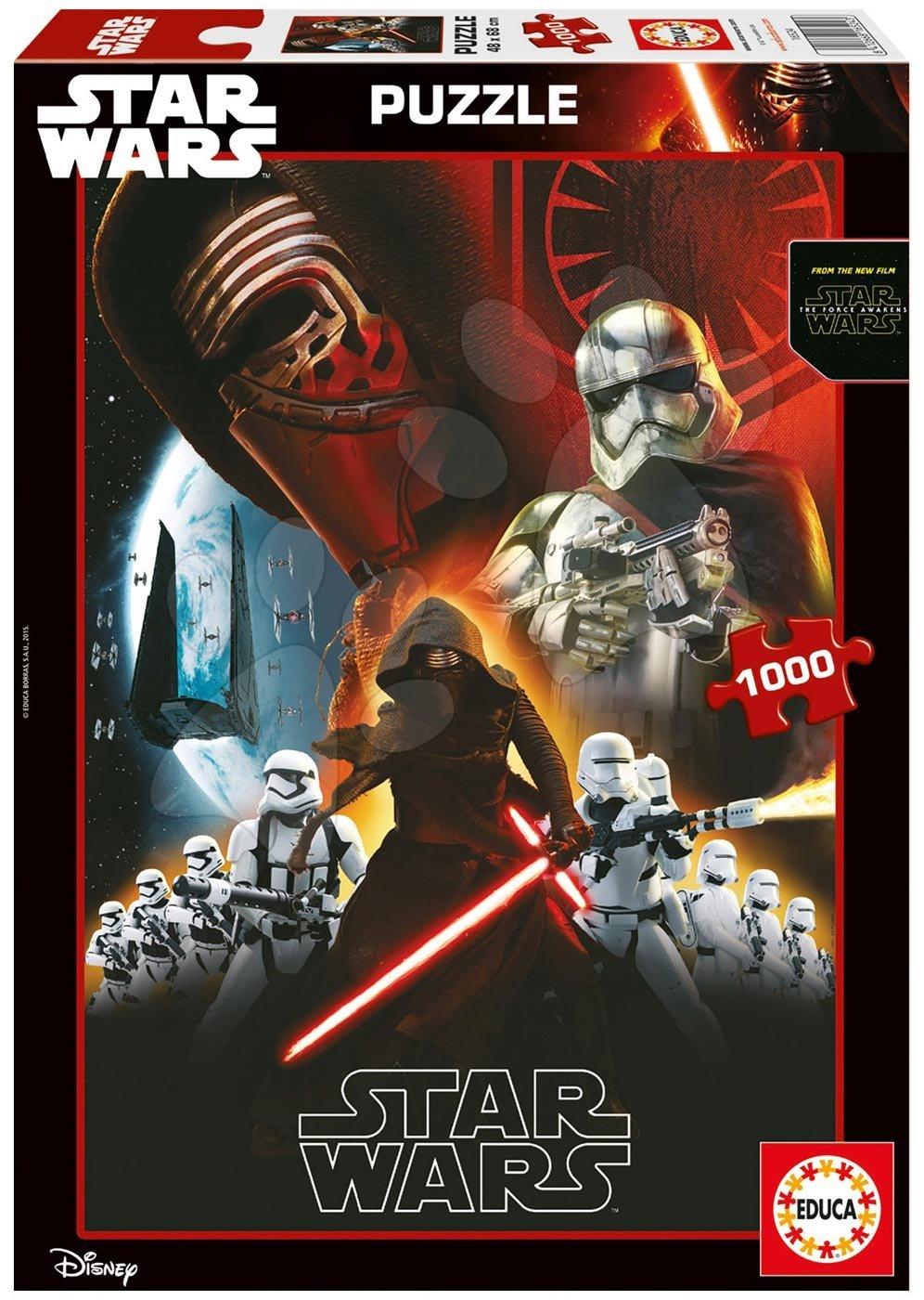 Puzzle 1000 dielne - Puzzle Star Wars: Sila sa prebúdza Educa 1000 dielov od 12 rokov
