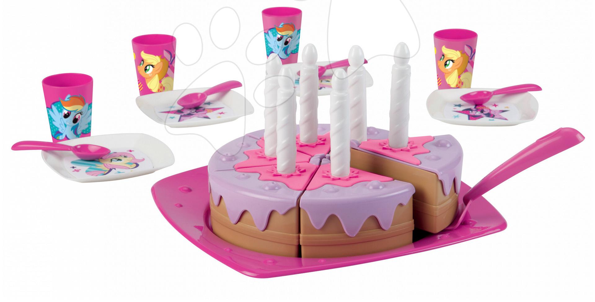 Narozeninový dort My Little Pony Écoiffier růžový od 18 měsíců