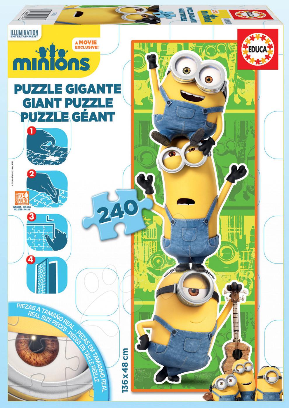 Detské skladacie koberce - Puzzle Giant Mimoni Educa 240 dielov od 8 rokov