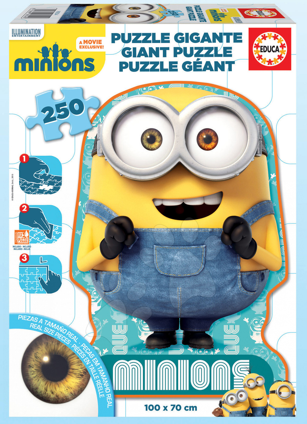 Puzzle Giant Mimoni Educa 250 dielov od 8 rokov