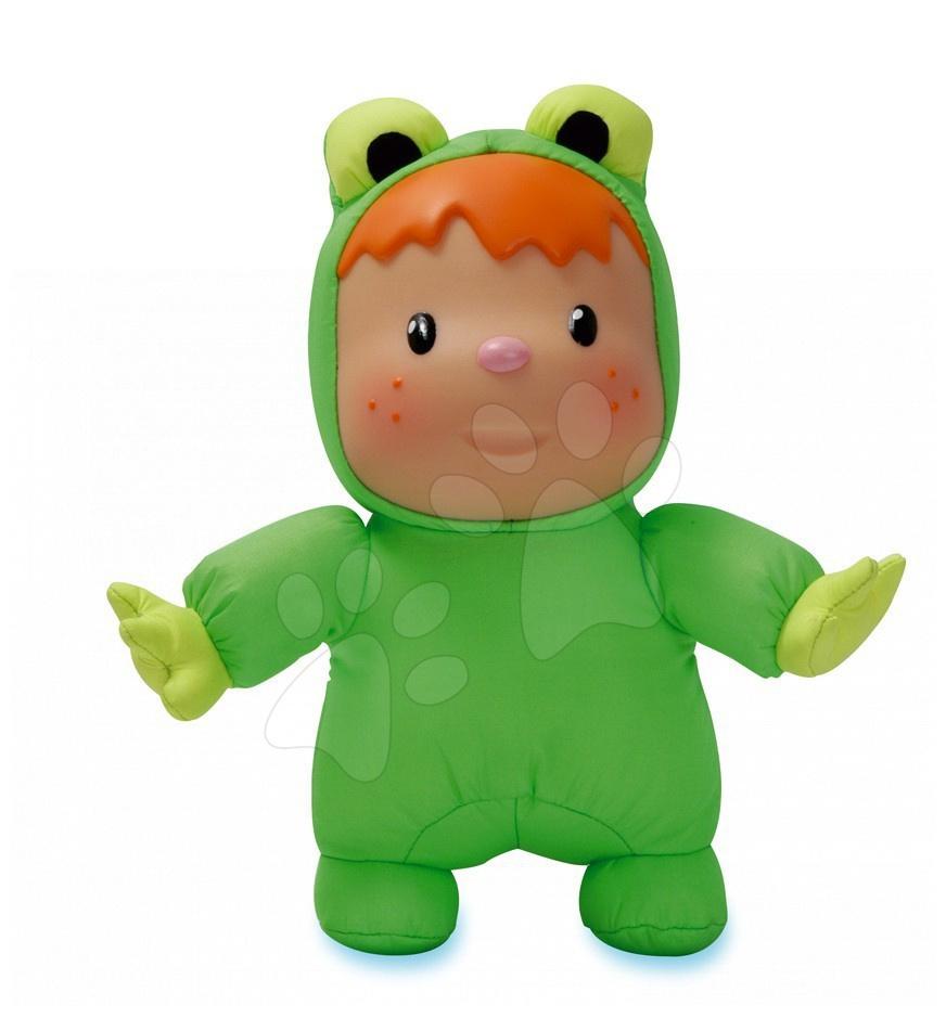 Hračky do vane - Rýchloschnúca bábika Žaba Cotoons Smoby zelená do vaničky pre kojencov