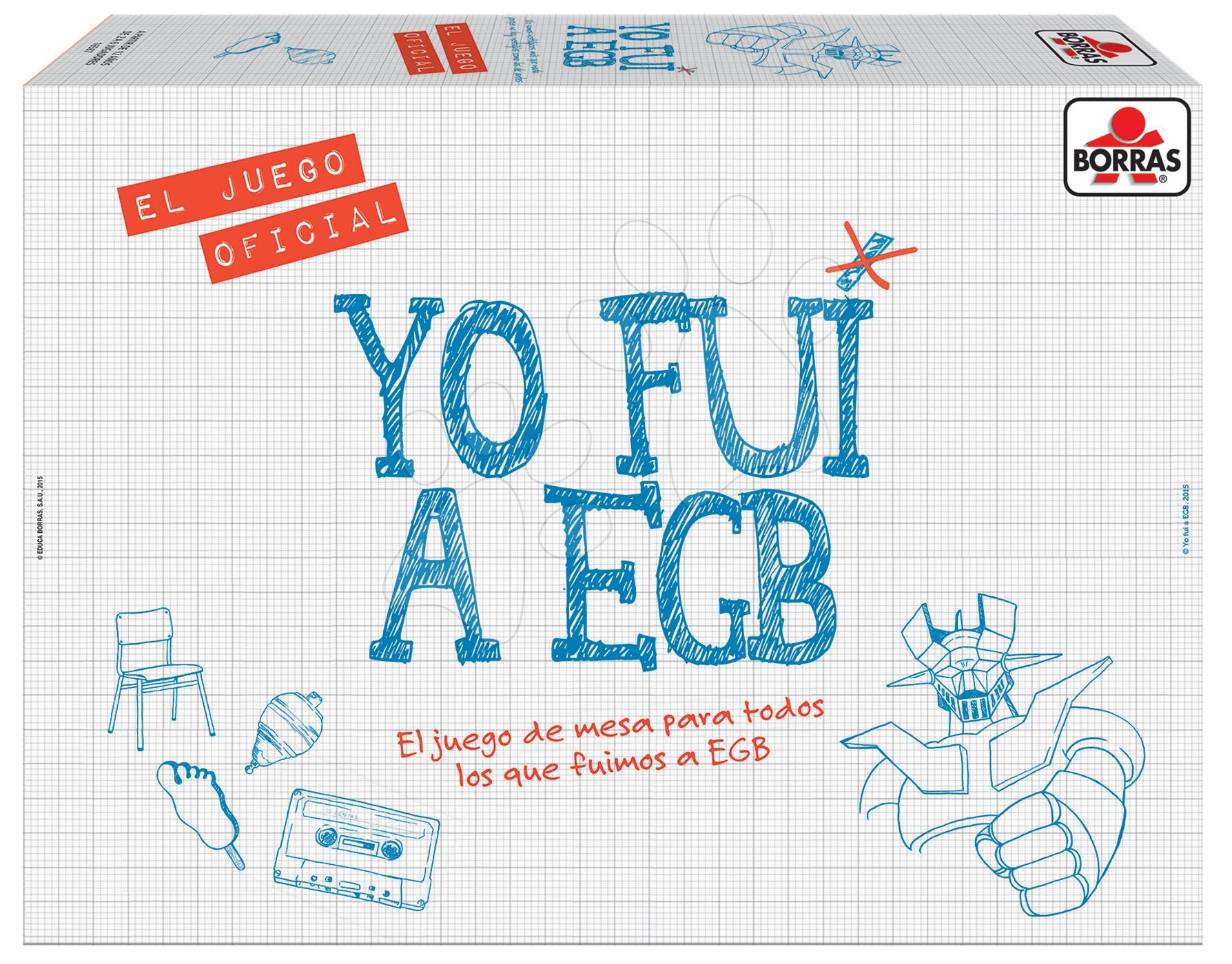 Társasjáték Yo Fui a EGB Borras Educa spanyol nyelvű 12 évtől