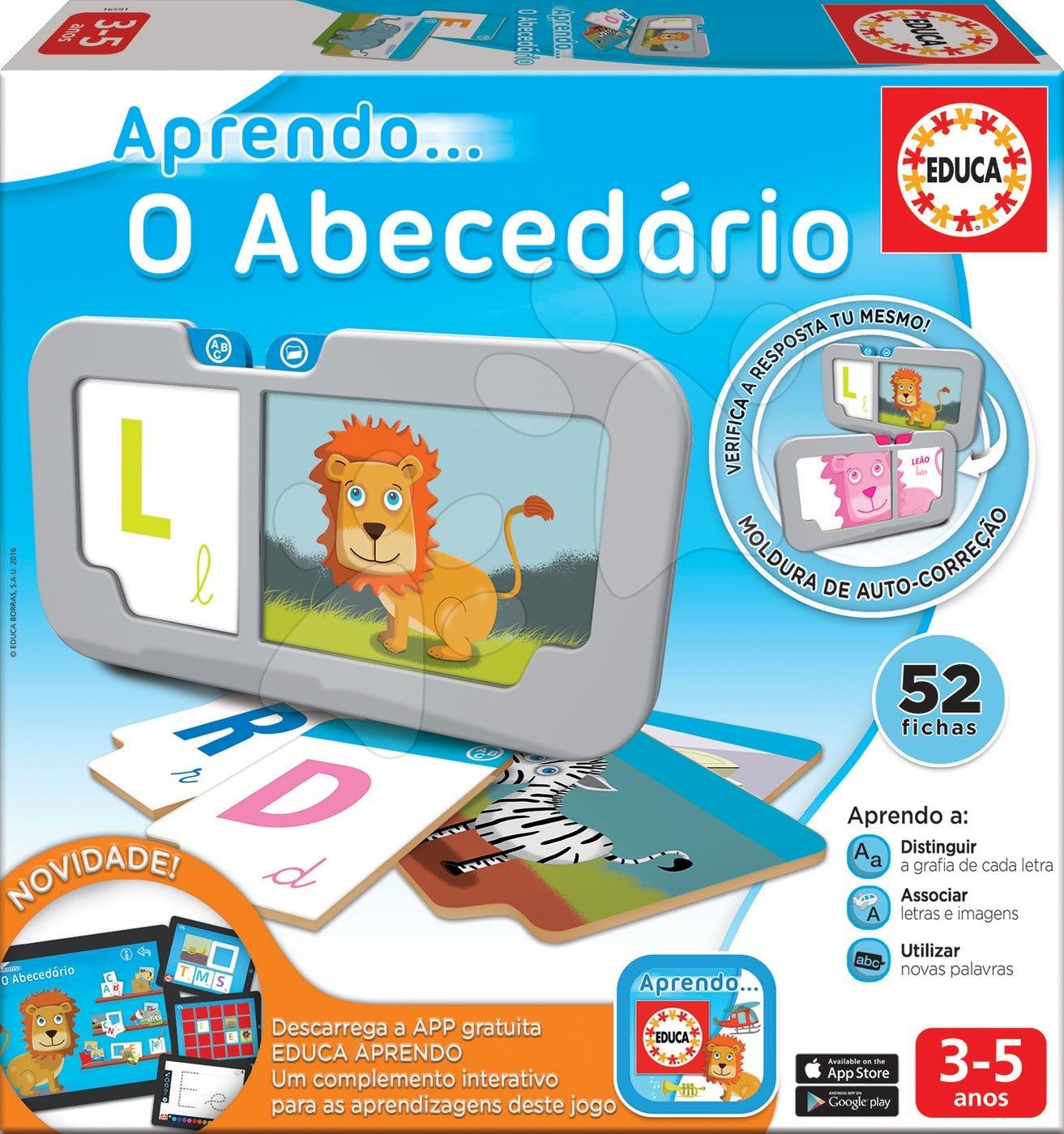 Náučné hry Učíme sa ABC Educa 52 dielov po španielsky od 3-5 rokov