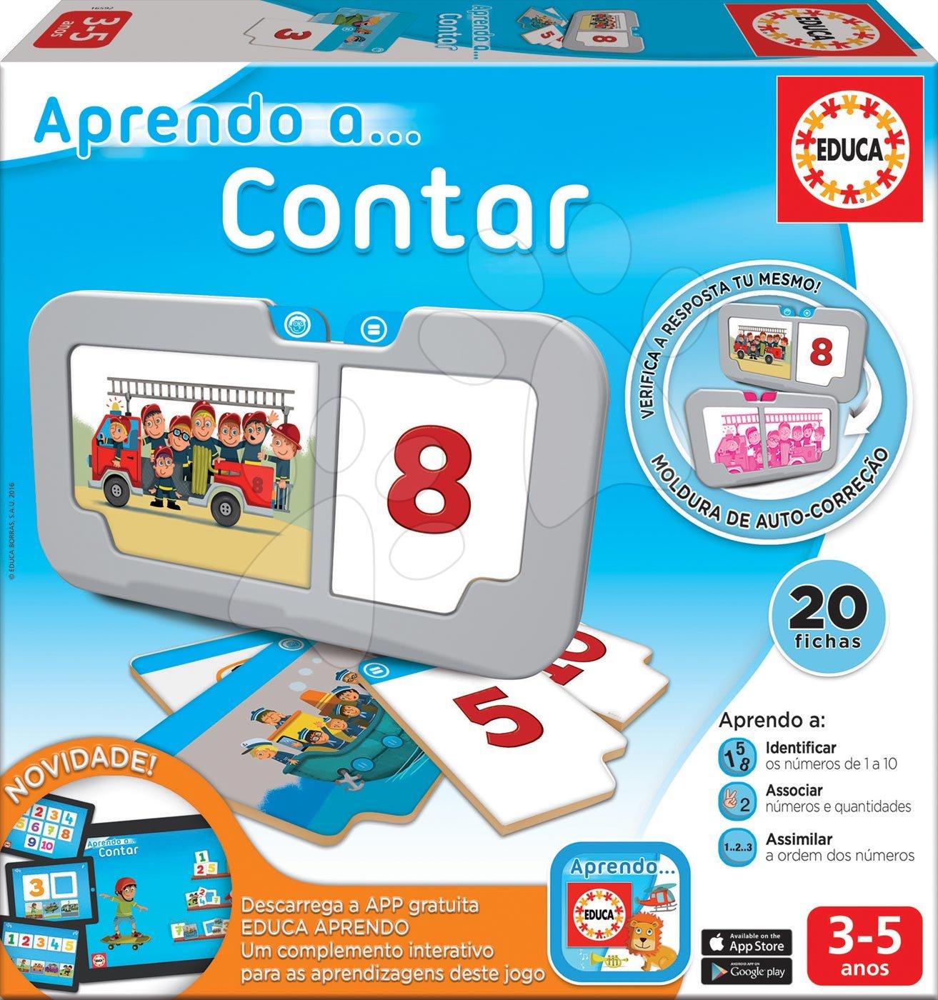 Náučné hry Učíme sa čísla Educa 20 dielov od 1 po 10 od 3-5 rokov