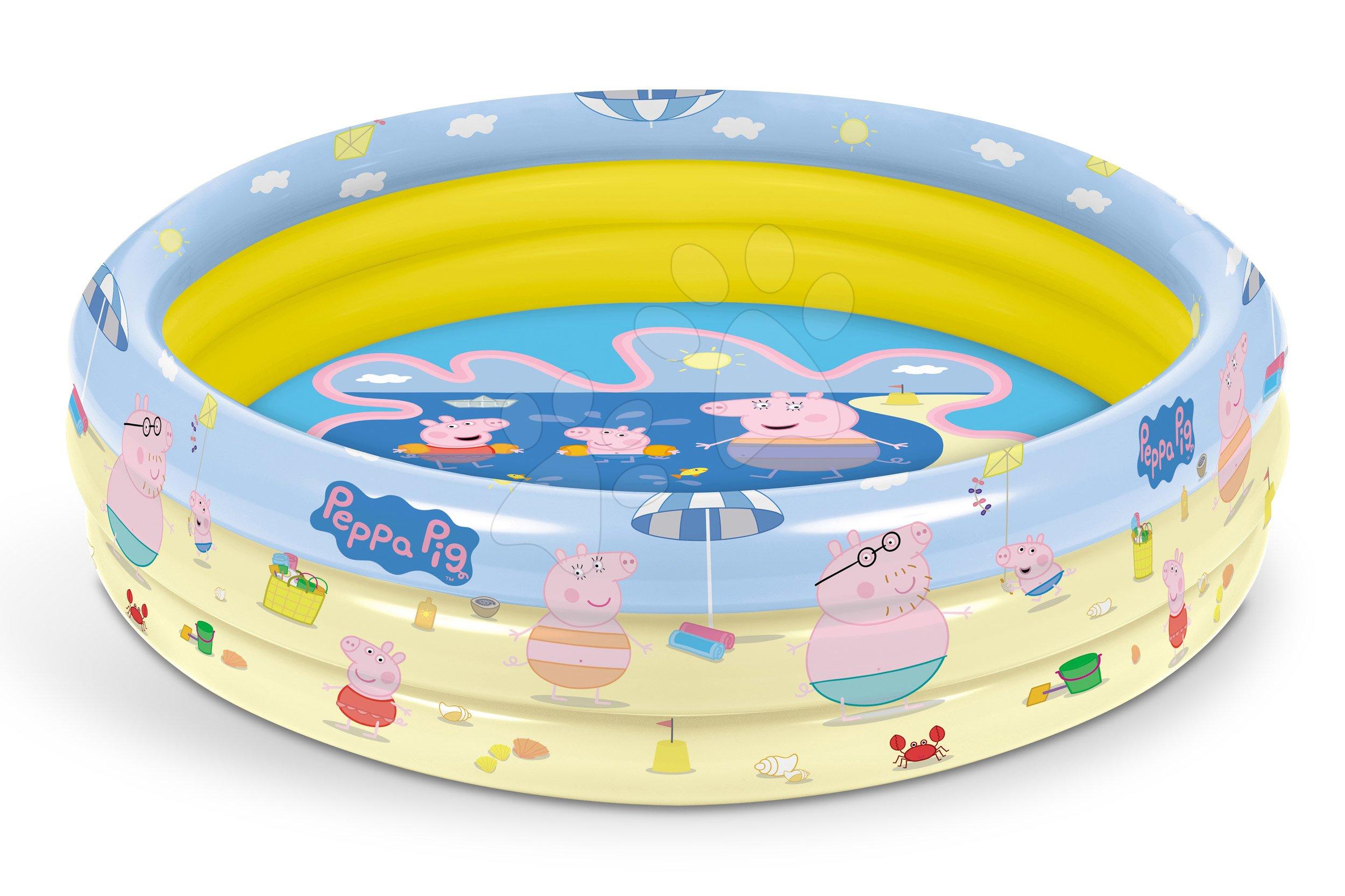 Detské bazéniky - Peppa Pig nafukovací bazén Mondo trojkomorový 100 cm od 10 mes