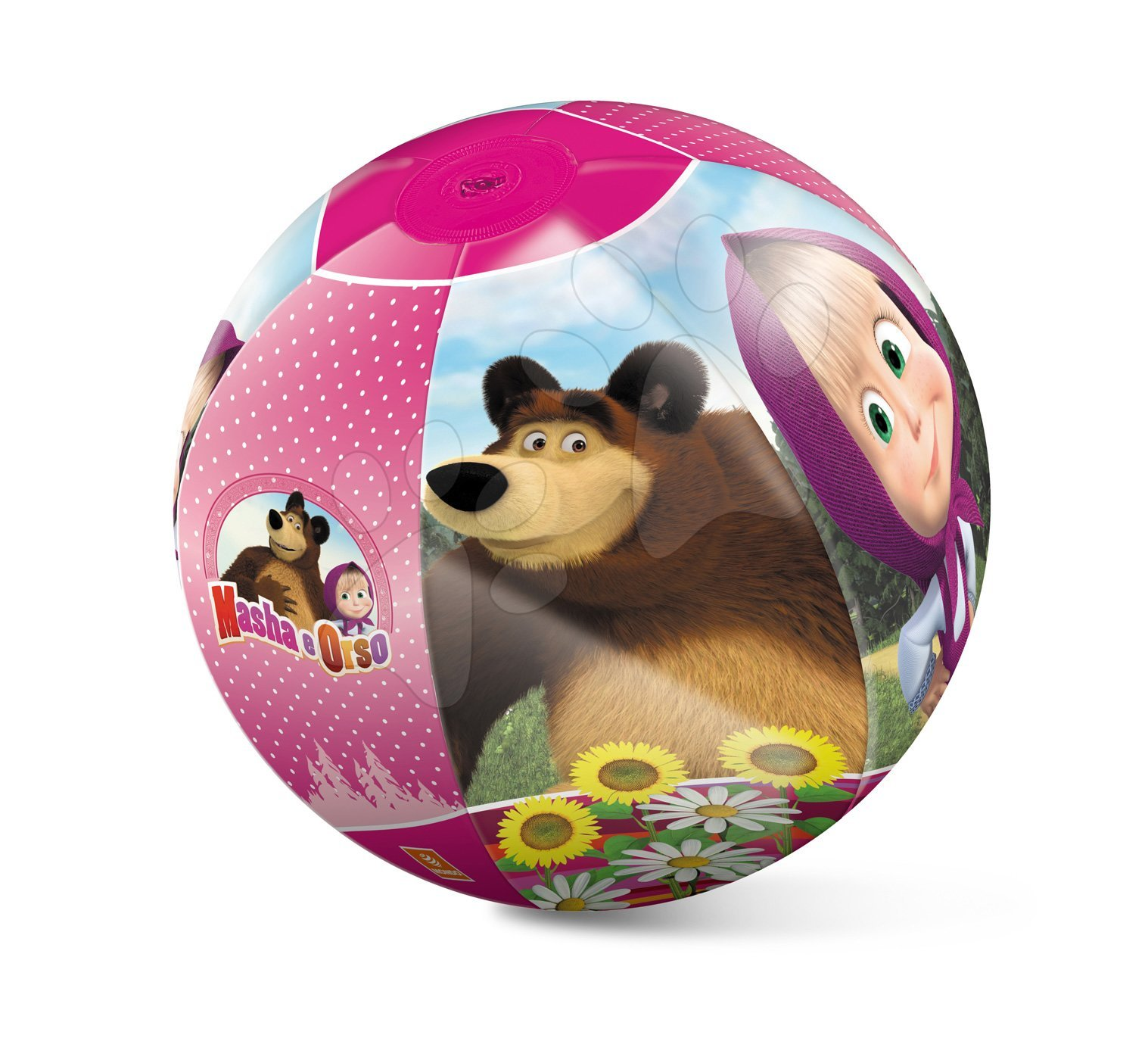 Nafukovací míč na pláž Máša a Medvěd Mondo 50 cm