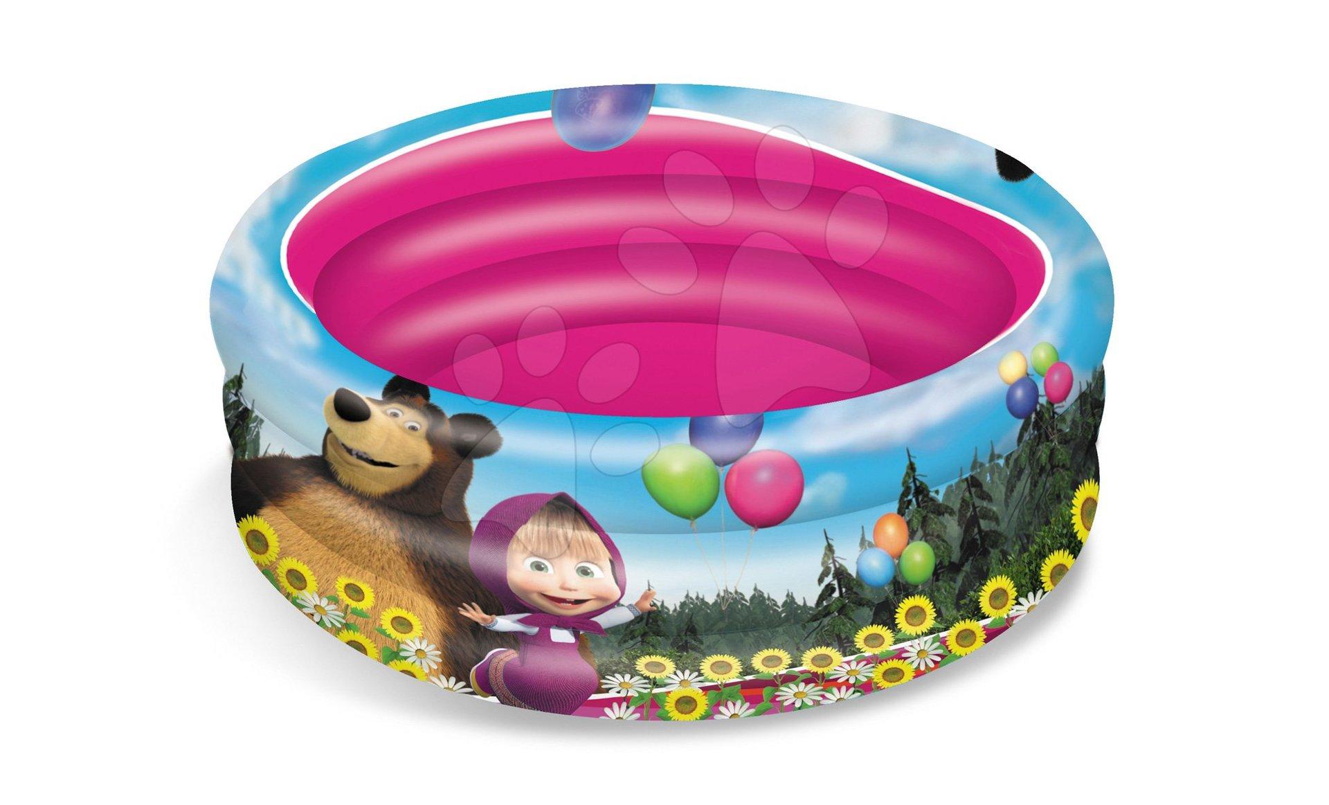 Nafukovací bazén Máša a Medvěd Mondo 3komorový 100 cm od 10 měsíců
