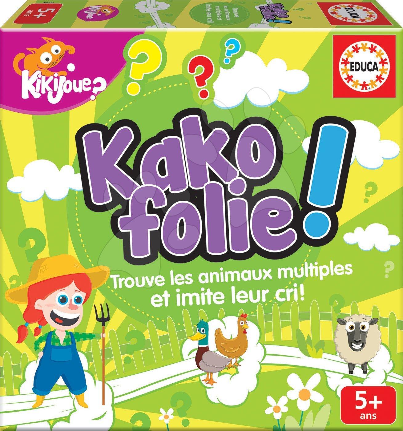Educa detská spoločenská hra Kako folie! vo francúzštine 16680