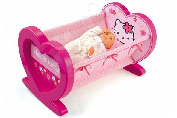 Pătuț Hello Kitty Smoby pentru păpuși de 42 de cm  34*38*58 cm de la 18 luni