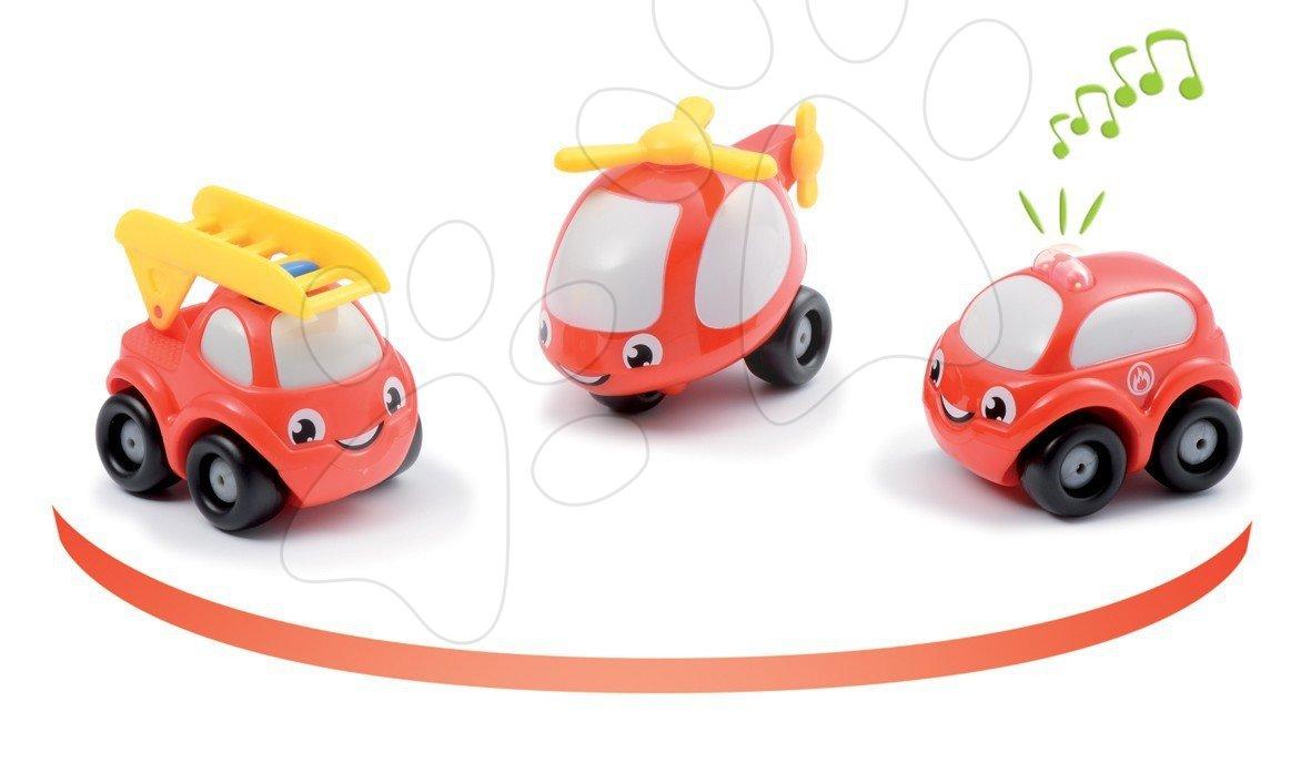 Staré položky - Sada 3 hasičských autíčok Vroom Planet Smoby elektronické dĺžka 7 cm od 12 mes