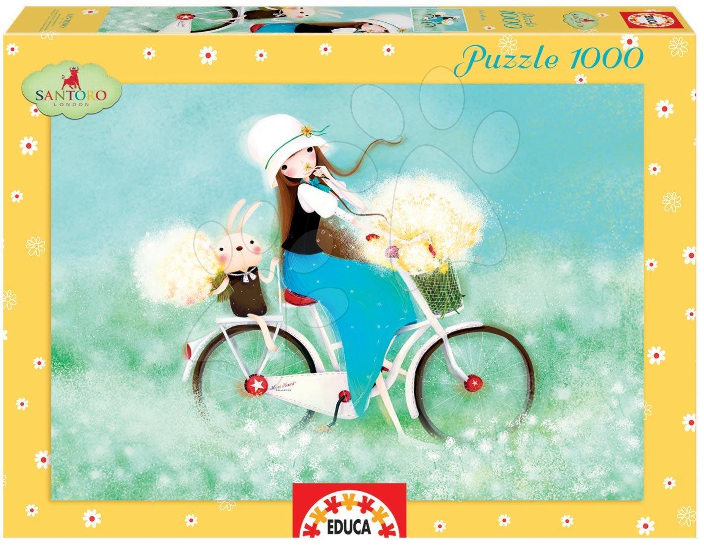 Puzzle 1000 dielne - Puzzle Kori Kumi Summertime, Santoro Educa 1000 dielov od 12 rokov