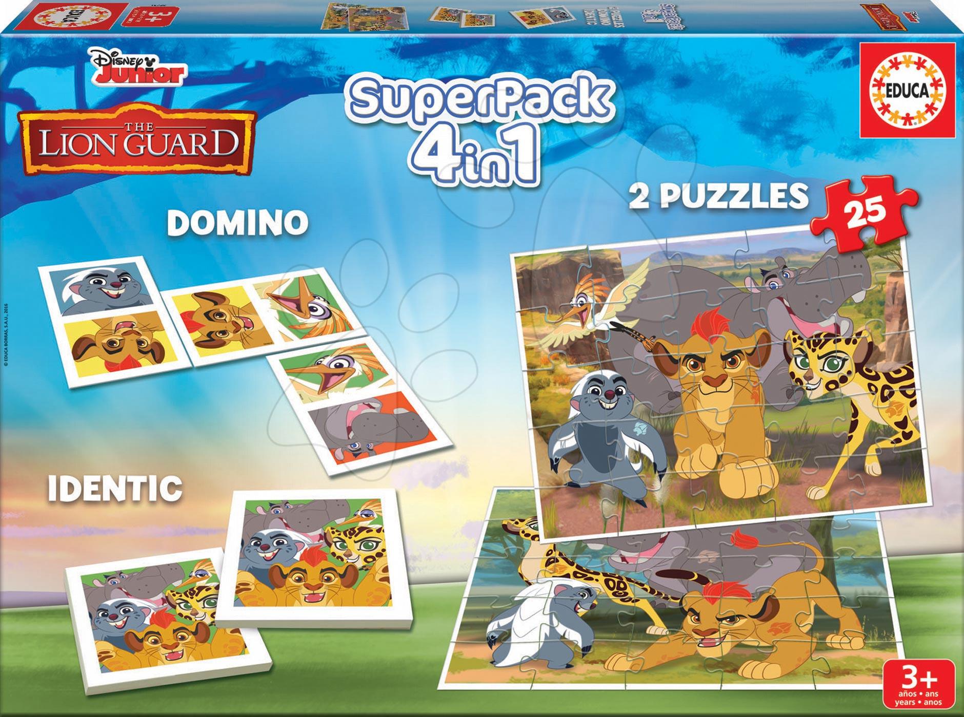 Puzzle Superpack Lví Král Disney 4v1Educa puzzle, domino a pexesso