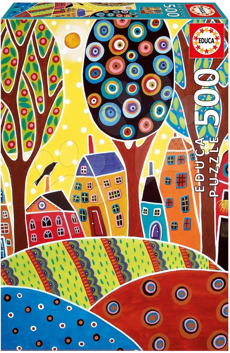 Puzzle 500 dielne - Puzzle Houses Barn Landscape, Karla Gerard Educa 500 dielov od 11 rokov
