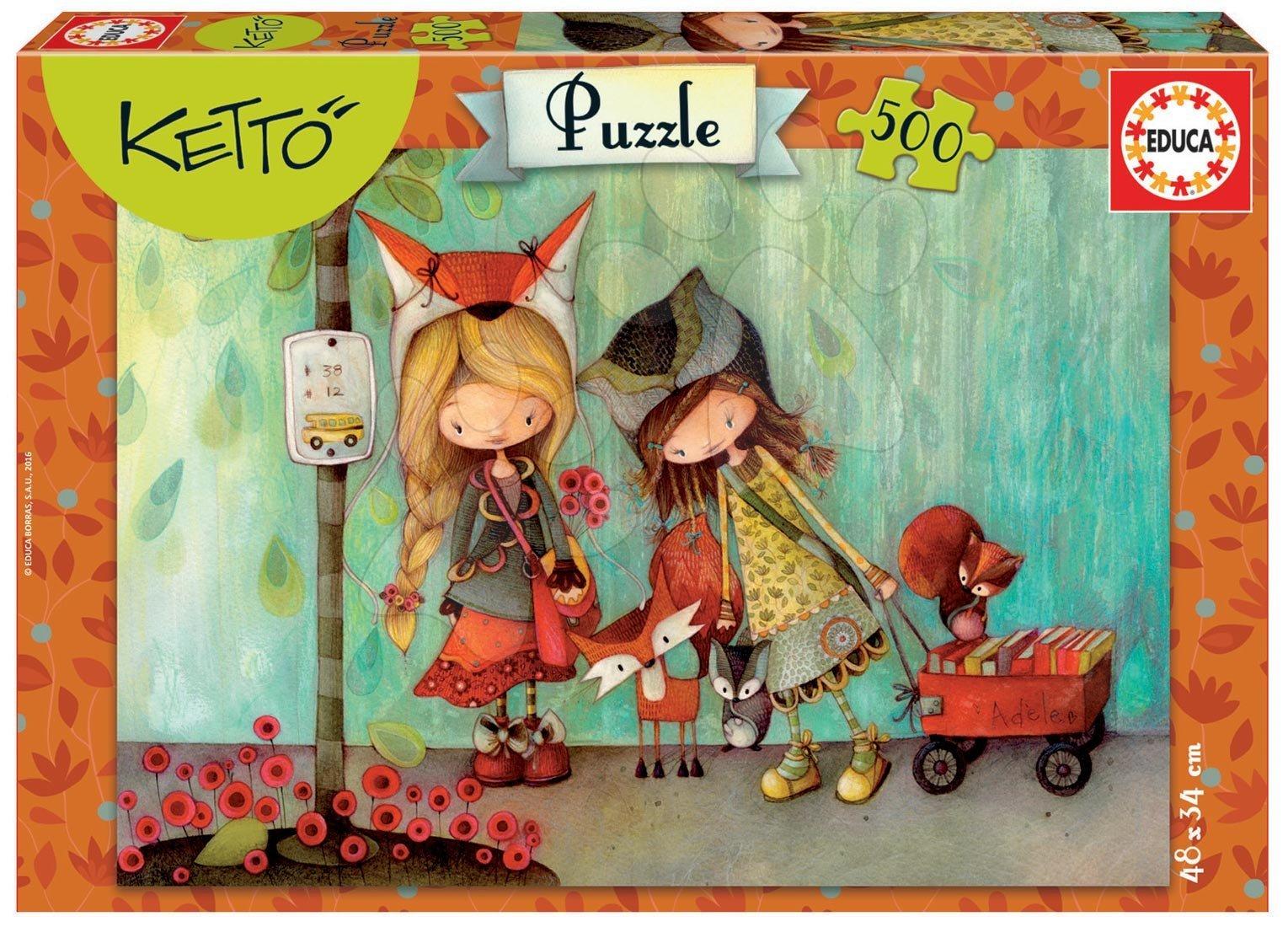 Puzzle 500 dielne - Puzzle Adele, Ketto Educa 500 dielov od 11 rokov