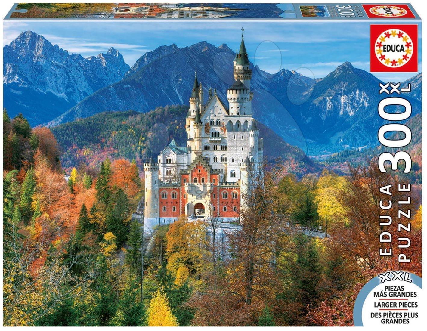Puzzle 500 dielne - Puzzle Genuine XXL Zámok Neuschwanstein Educa 300 dielov od 12 rokov