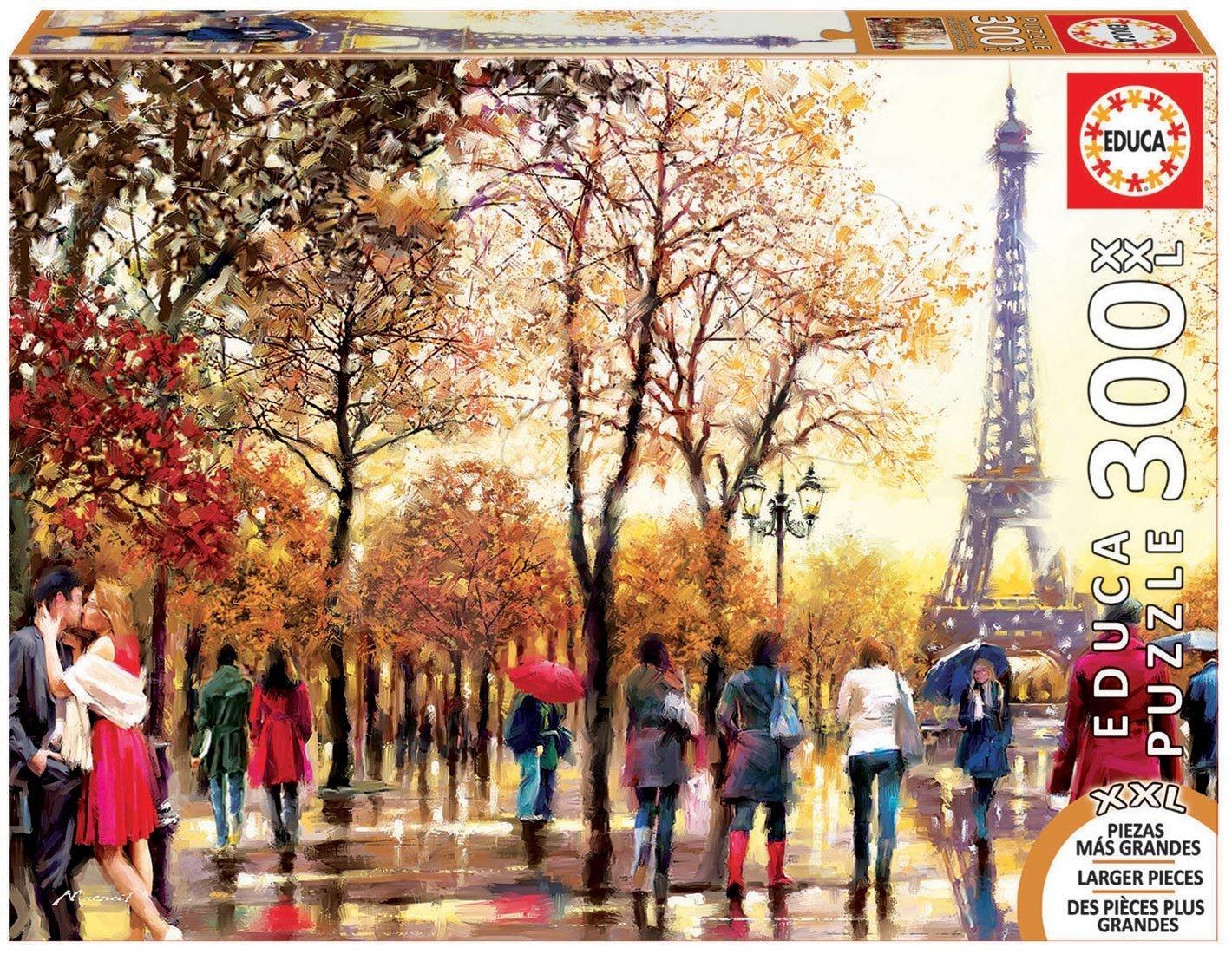 Puzzle 500 dielne - Puzzle Genuine XXL Eiffelova veža Educa 300 dielov od 12 rokov