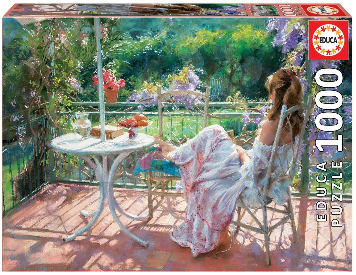 Puzzle 1000 dielne - Puzzle Genuine Among wisterias, Vicente Romero Educa 1000 dielov od 12 rokov