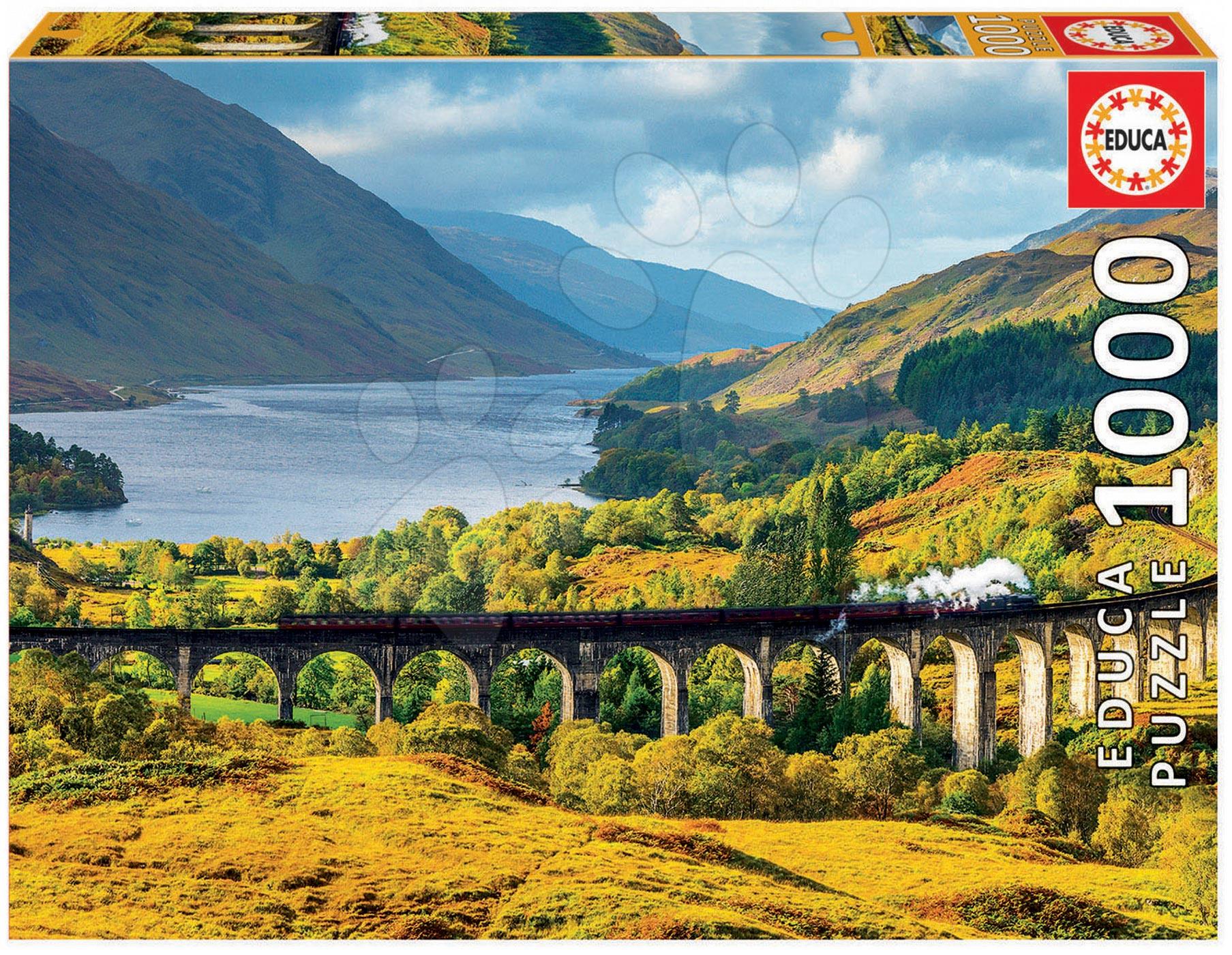 Puzzle 1000 dielne - Puzzle Genuine Glenfinnan viaduct, Scotland Educa 1000 dielov od 12 rokov