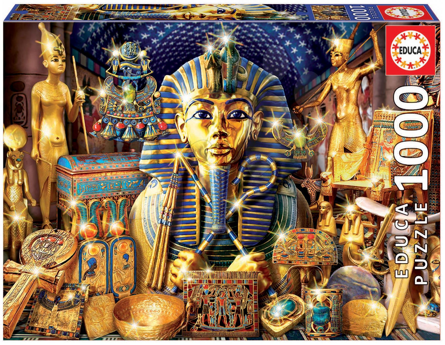 Puzzle 1000 dielne - Puzzle Genuine Treasures of Egypt Educa 1000 dielov od 12 rokov
