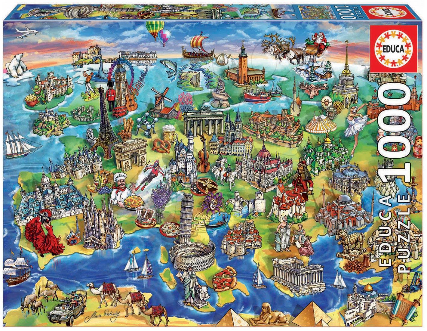 Puzzle 1000 dielne - Puzzle Genuine European world Educa 1000 dielov od 12 mes
