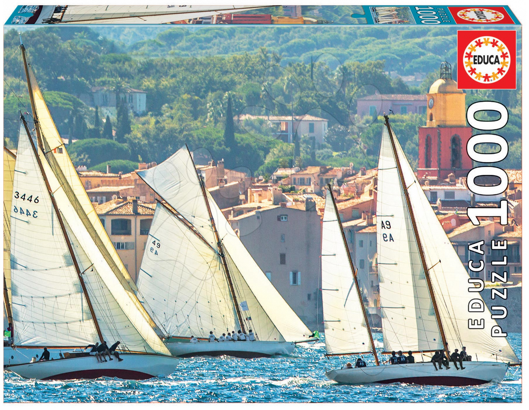 Puzzle Genuine Sailing at Saint-Tropez Educa 1000 dílů od 12 let