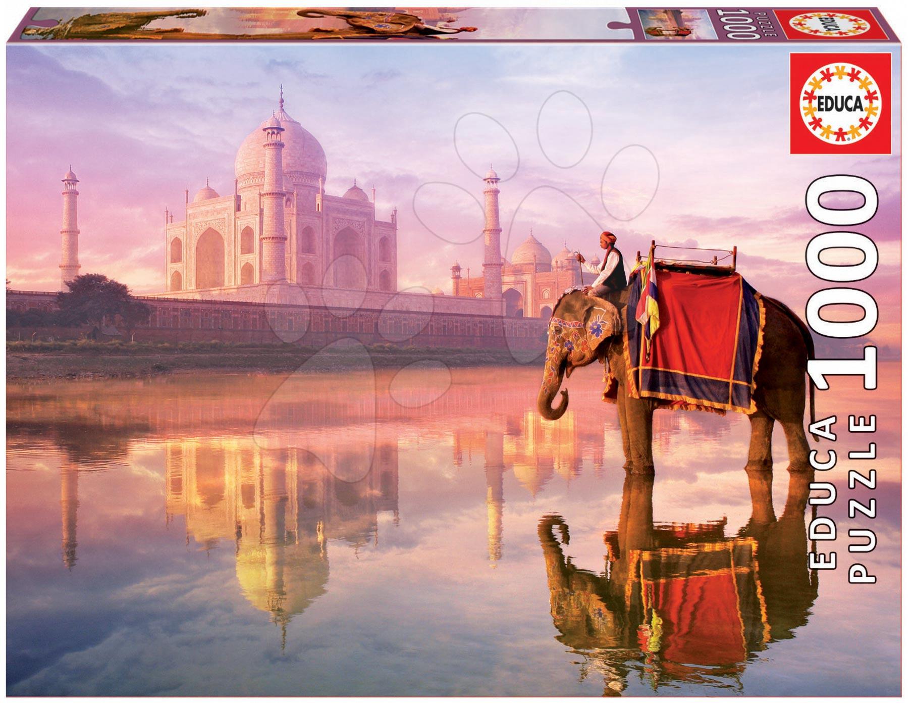 Puzzle 1000 dielne - Puzzle Genuine Elephant at Taj Mahal Educa 1000 dielov od 12 rokov
