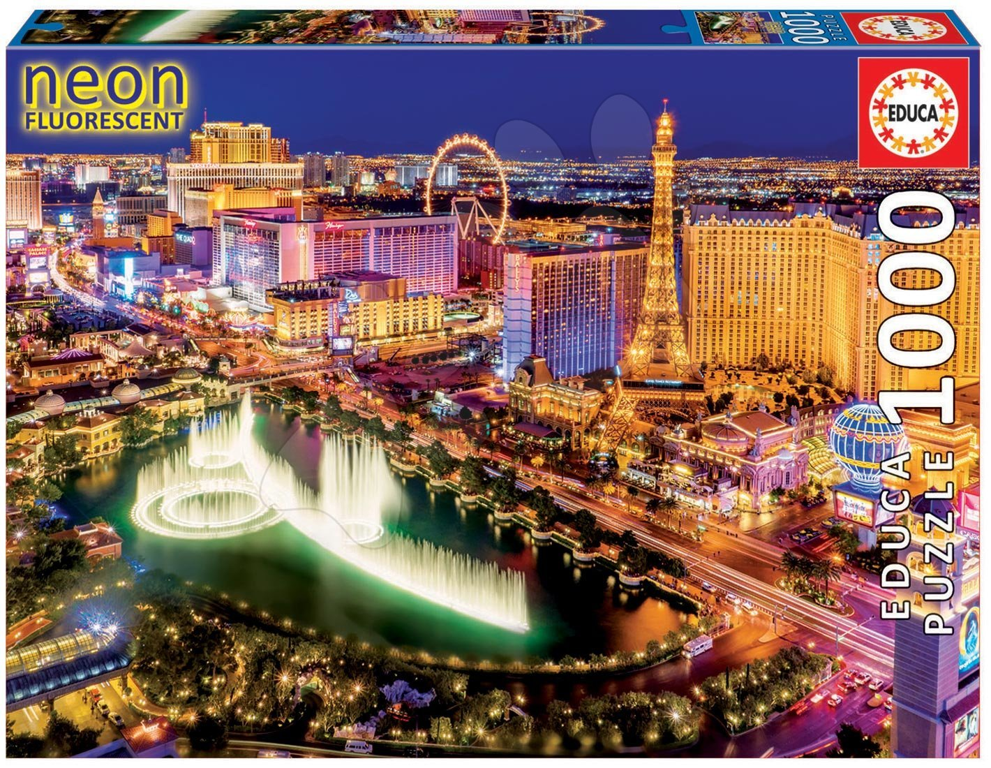 Puzzle 1000 dielne - Puzzle Neon Series, Neon Las Vegas Educa 1000 dielov od 12 rokov