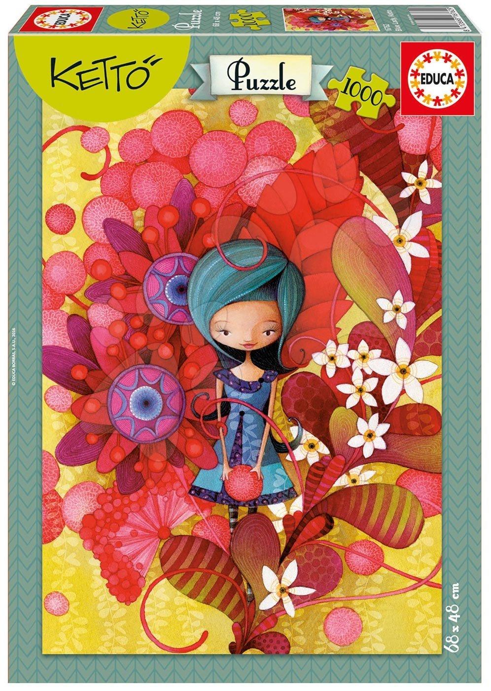 Puzzle 1000 dielne - Puzzle Blue Lady, Ketto Educa 1000 dielov od 12 rokov