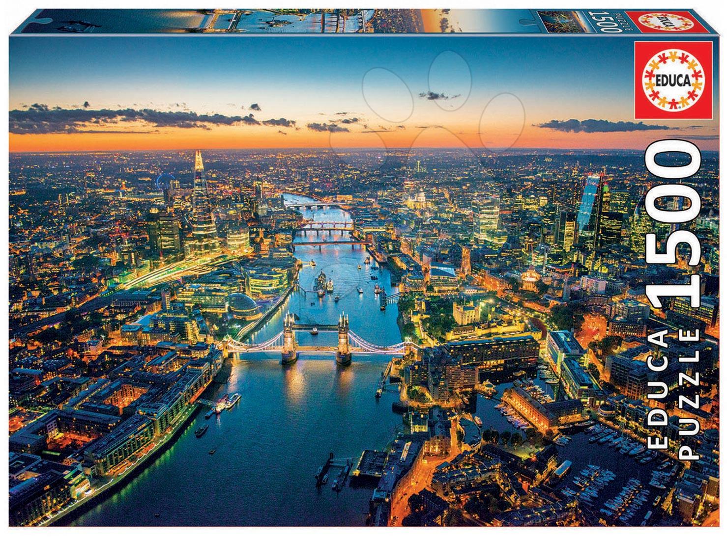 Puzzle 1500 dielne - Puzzle Genuine Letecký pohľad na Londýn Educa 1500 dielov